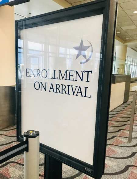 Global Entry Enrollment on arrival