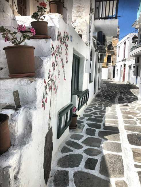 paros greece streets