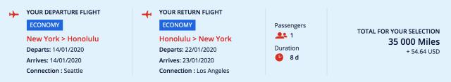 Hawaii flights New York