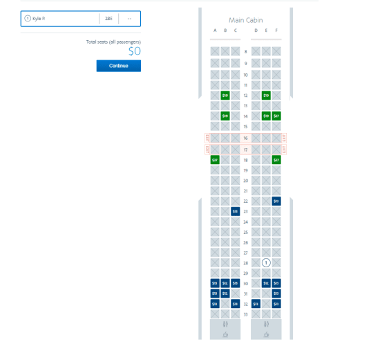 american airlines seat fees basic economy fares