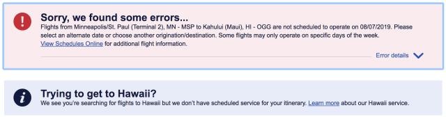 Southwest Hawaii Flights