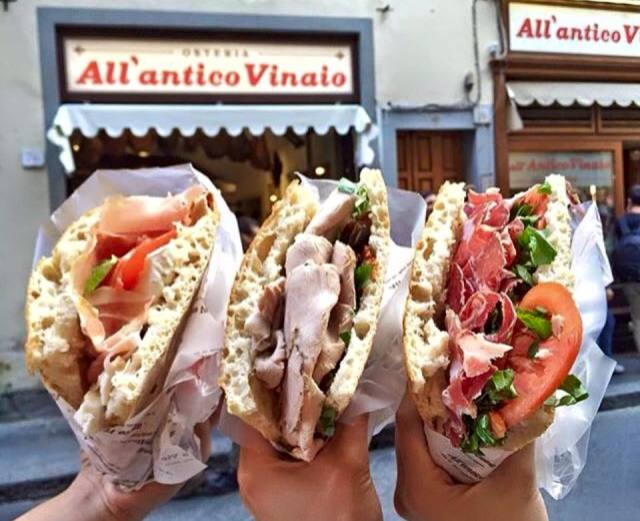 Florence ITaly sandwiches