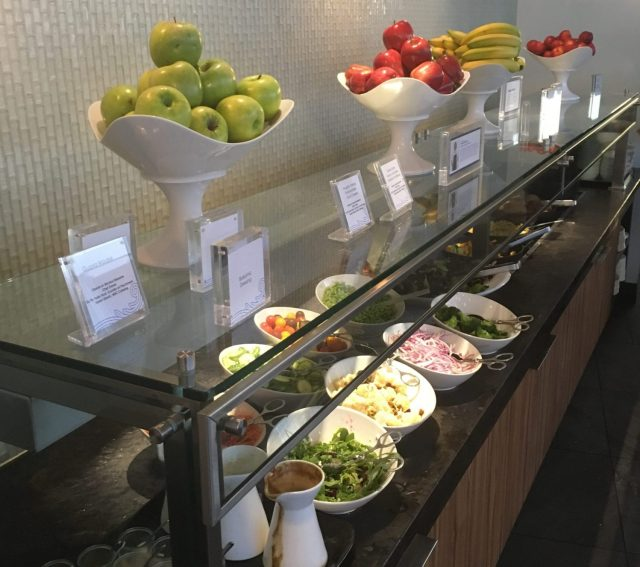 Centurion Lounge Miami buffet