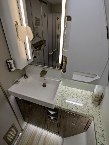Emirates 1st Class Bathroom