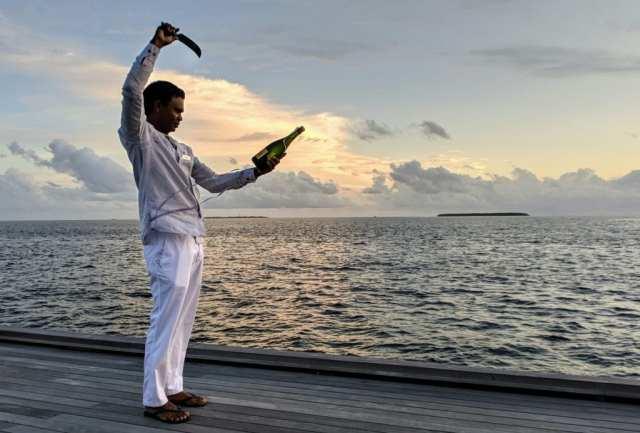 Champagne Sabering St. Regis Maldives