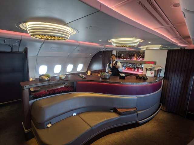 airbus a380 qatar bar