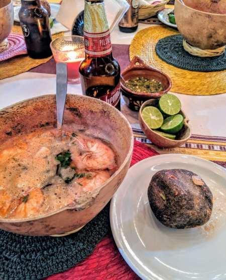 Oaxaca food piedra de caldo