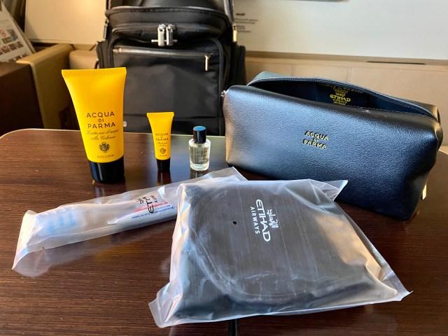 Etihad First Class amenity kit