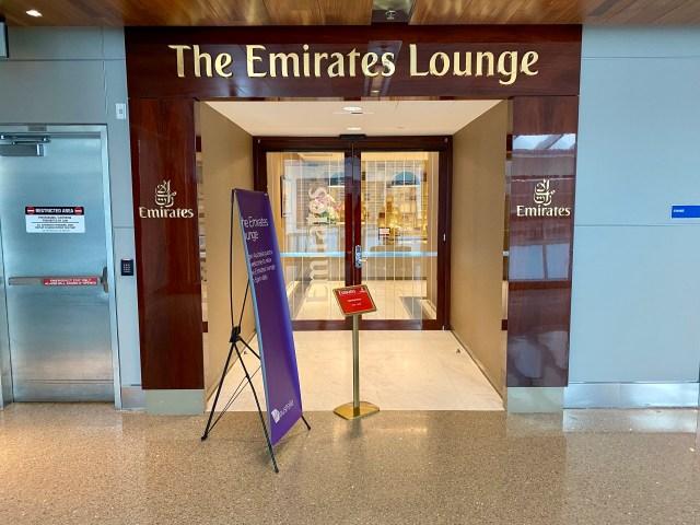 Emirates lounge LAX