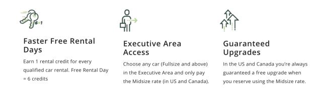 National Executive Status Benefits