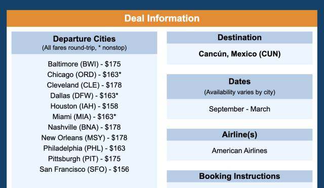 flights to Mexico thrifty traveler premium