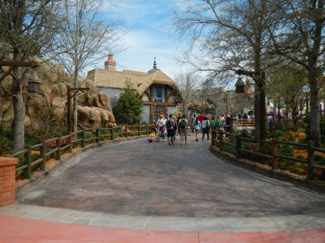 This is the new path next to Haunted Mansion that heads up towards It's a Small World and the new Tangled restroom area