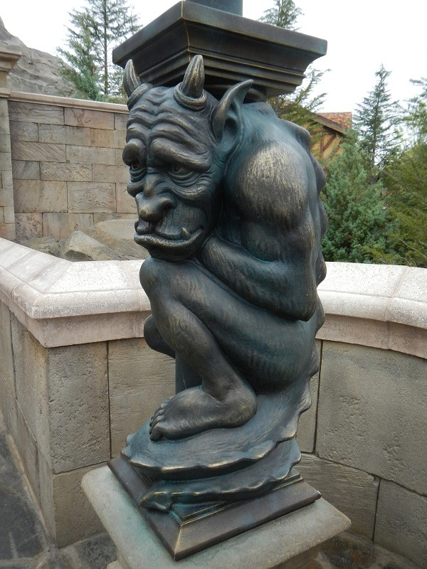 You know that gargoyle that comes alive in the New Fantasyland commercial?  Here he is