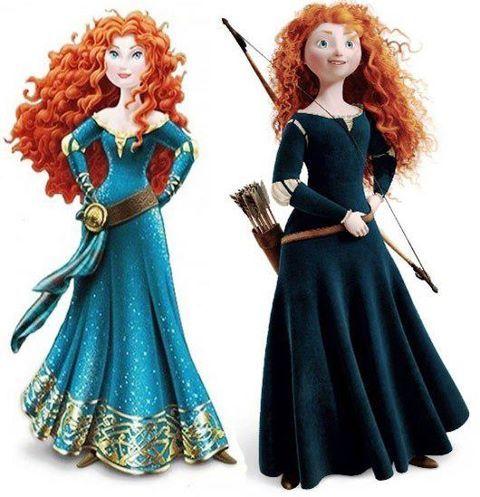 New Merida is on the left, while the old is on the right.