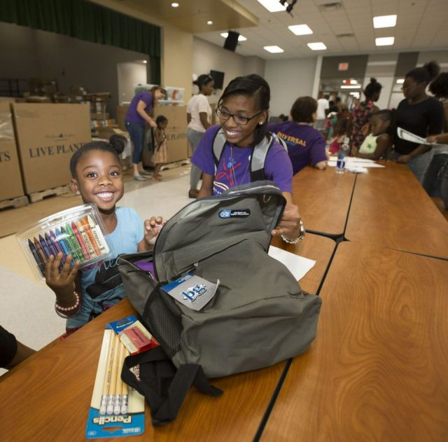 Universal Orlando Foundation Backpack Distribution