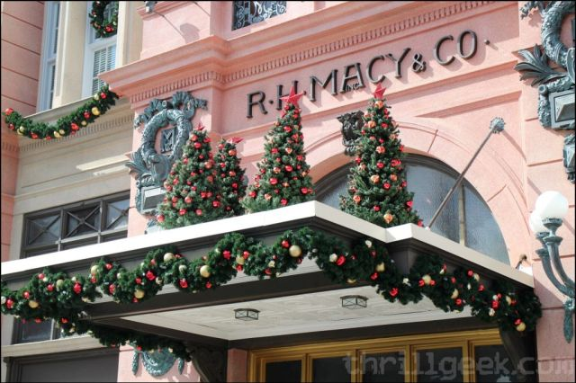 Christmas decor has begun popping up around the park as well