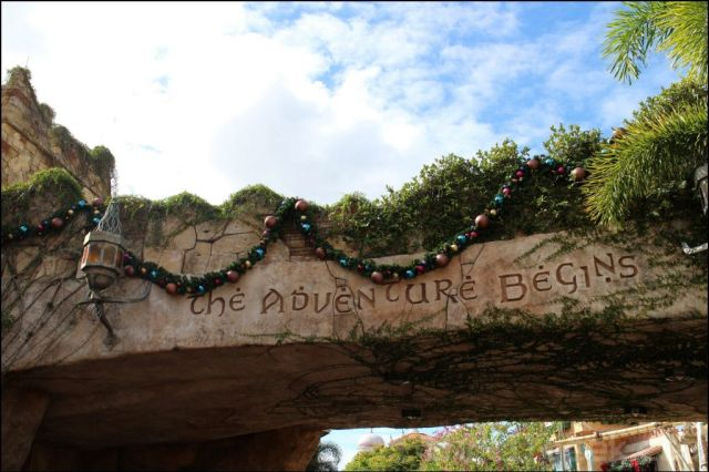 Now off to Islands of Adventure where Christmas has shown up as well
