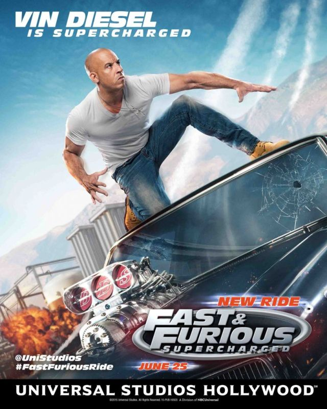 Fast Furious-Supercharged Vin Diesel ride poster