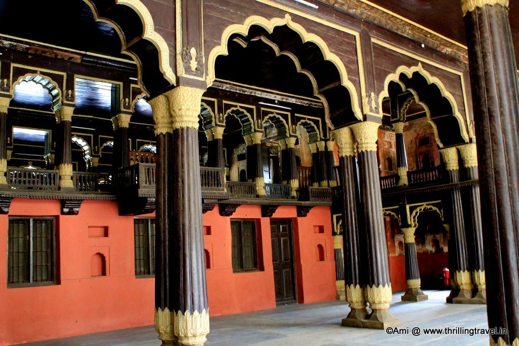 Tipu's Balcony facing the court part of the Palace.Bengaluru