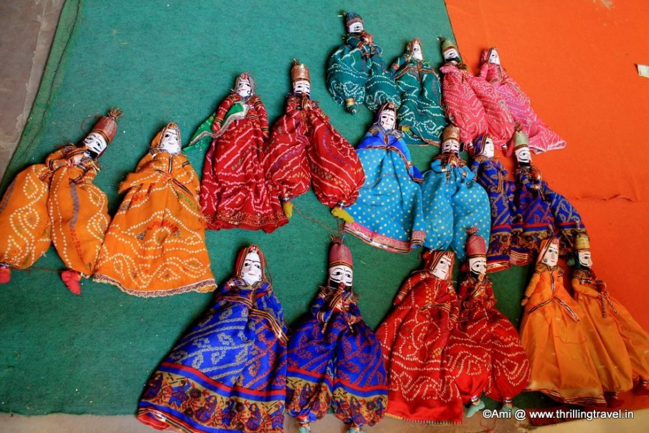 Puppets on sale at Lalit Mandir, Jaigarh Fort