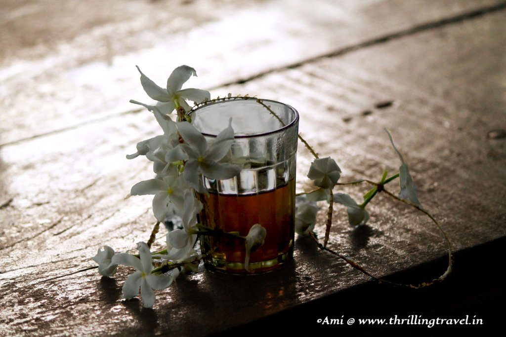 Jasmine tea at the Spice Plantation in Goa