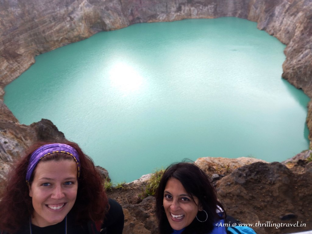 Lucie and Me at the Blue lake, Kelimutu