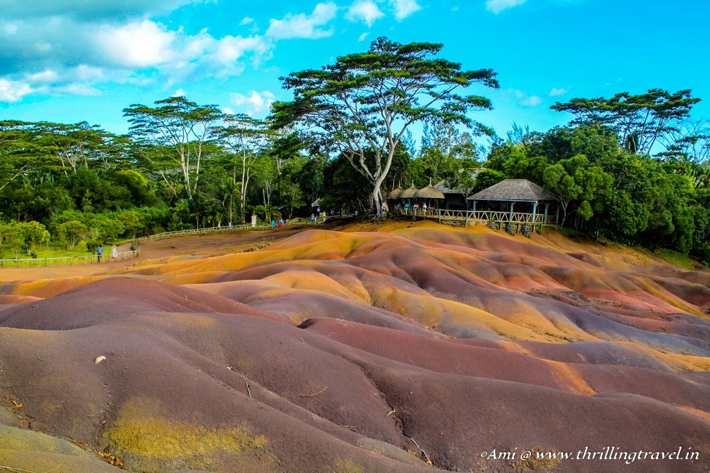 7 colors of the earth at Chamarel in Mauritius