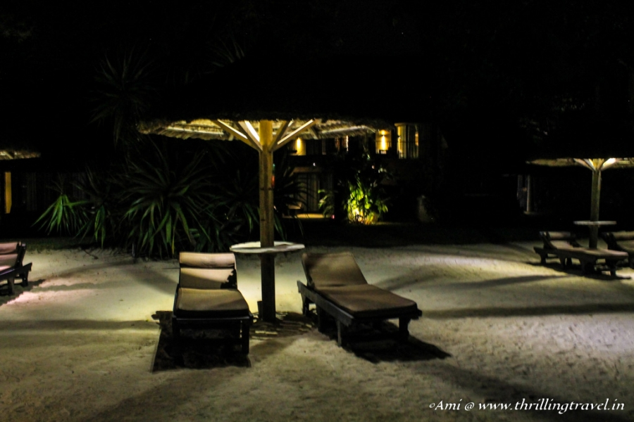 Relaxing by the beach at Trou Aux Beachcomber Hotel, Mauritius