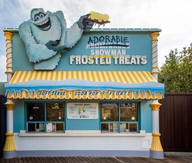 Adorable Snowman Frosted Treats in Pixar Pier at Disney California Adventure park