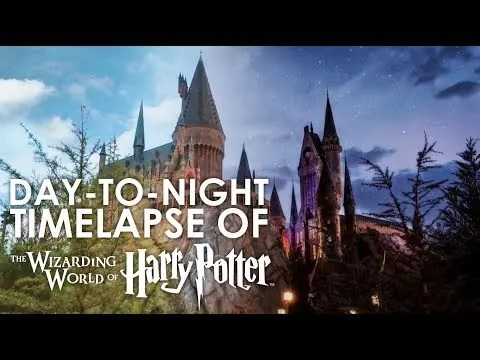 Day-to-Night Timelapse of the Wizarding World of Harry Potter