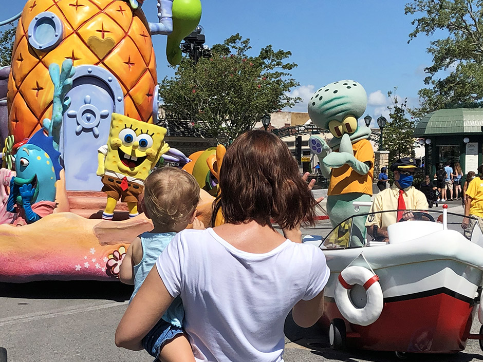 SpongeBob SquarePants in Universal's Superstar Parade