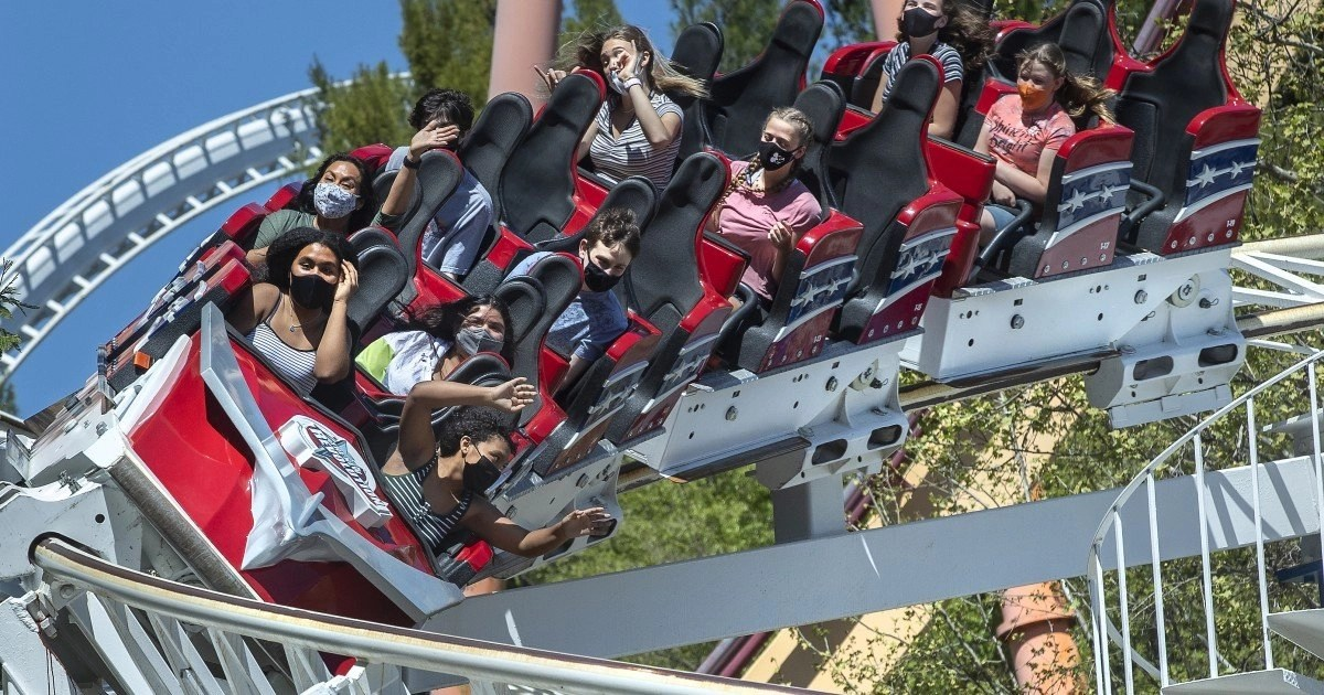 Six Flags Magic Mountain reopens with COVID safety measures