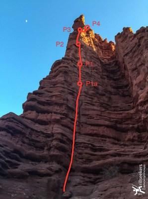 Titan Route Description - Lower Pitches