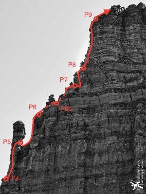 Titan Route Description - Upper Pitches
