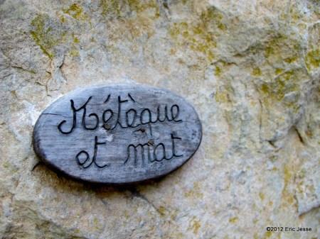 Meteque et mat (6b+, 5.10d) - Chateauevert, France