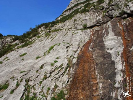 The Stairs of the First Via Ferrata