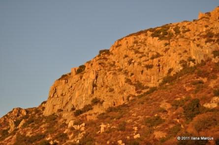 Sun sets on Mission Gorge