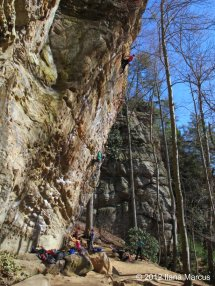 Gung Ho (5.12b) - Military Wall, Red River Gorge, KY
