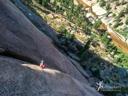 Looking down P4. 'Childhood's End', Big Rock Candy Mountain - South Platte, CO.