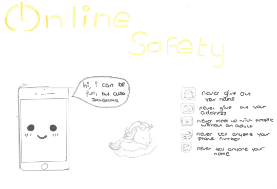 Online safety black and white