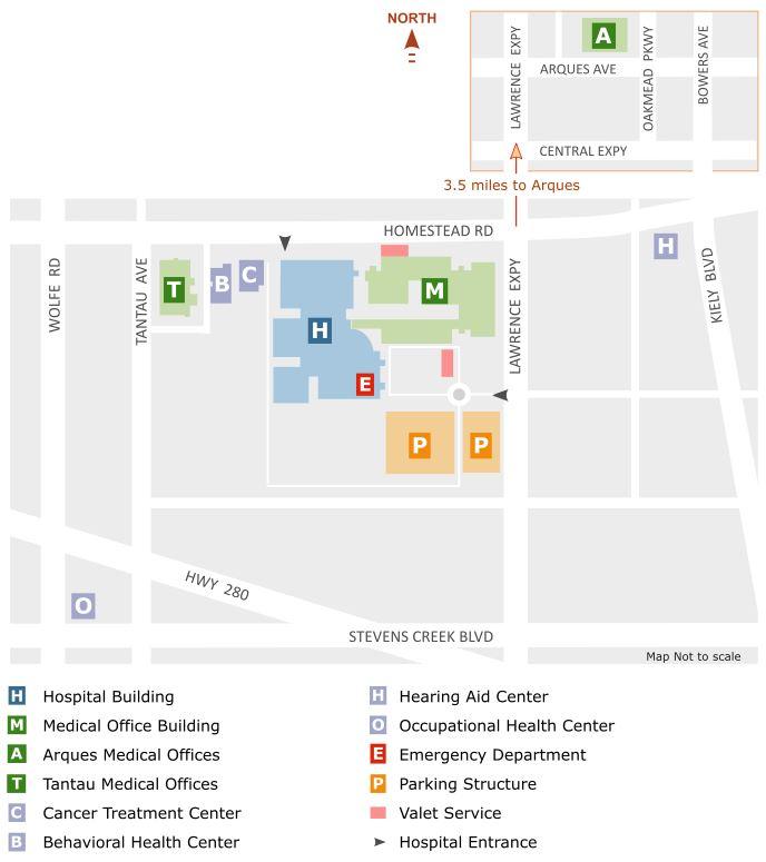 Kaiser Roseville Building Map D