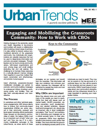 Engaging and Mobilizing the Grassroots Community: How to Work with CBOs