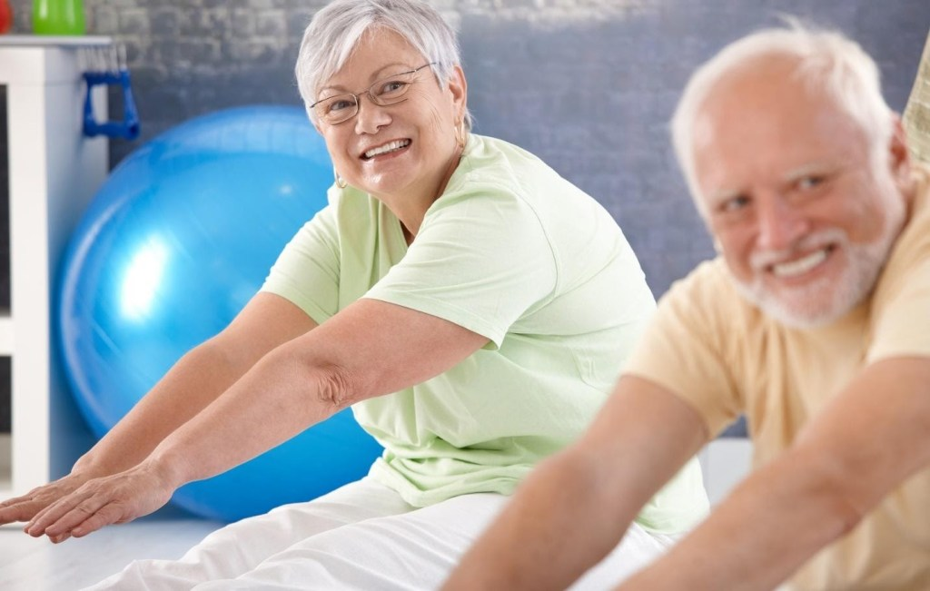seniors enjoying range of motion in spine