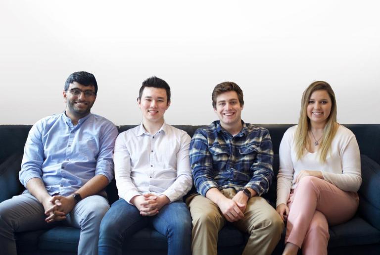 The Pikup Team. From left: Bharat Pulgam, Josh Chang, Sam Lerdahl and Ashley Klein.