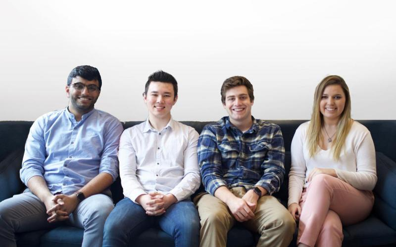 The Pikup Team. From left: Bharat Pulgam, Josh Chang, Sam Lerdahl and Ashley Klein.