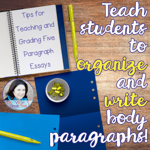 Tips For Teaching And Grading Five Paragraph Essays We Have Fun With Simple Paragraphs Then Its Time To Move On To  Organization