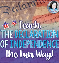 Teach the Declaration of Independence the Fun Way! - Thrive in Grade Five [ 1600 x 1600 Pixel ]