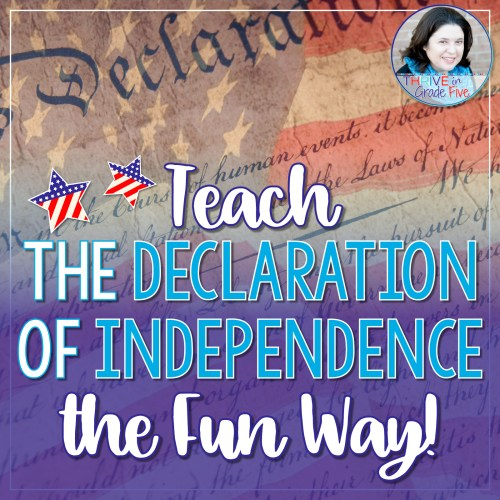 small resolution of Teach the Declaration of Independence the Fun Way! - Thrive in Grade Five