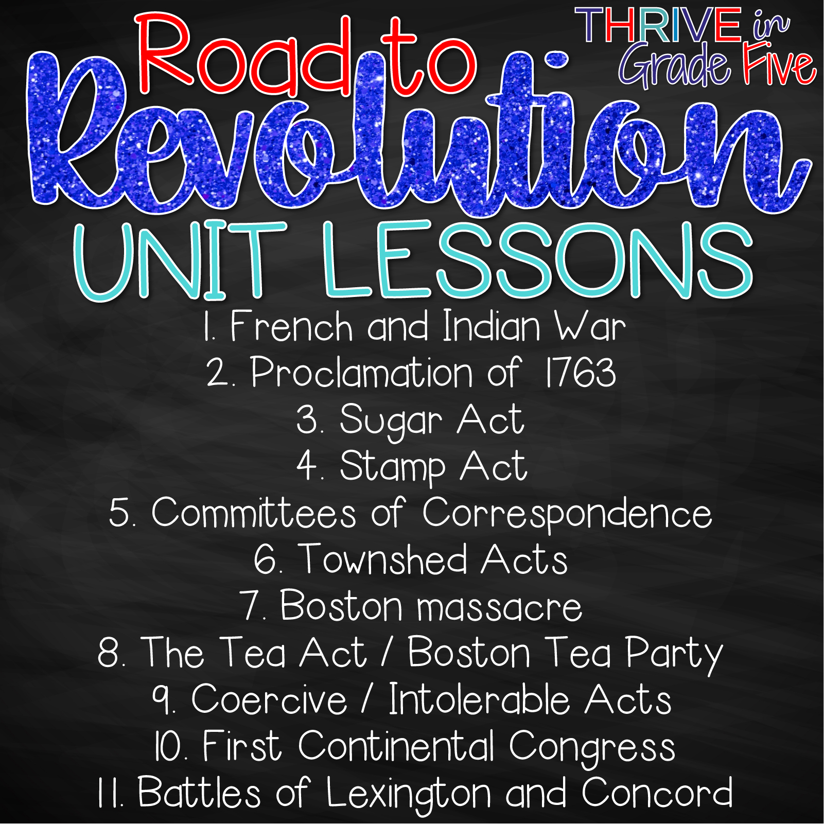 Teaching the American Revolution - Thrive in Grade Five [ 1024 x 1024 Pixel ]