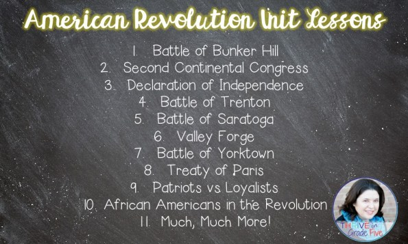 American Revolution lessons; American Revolution activities